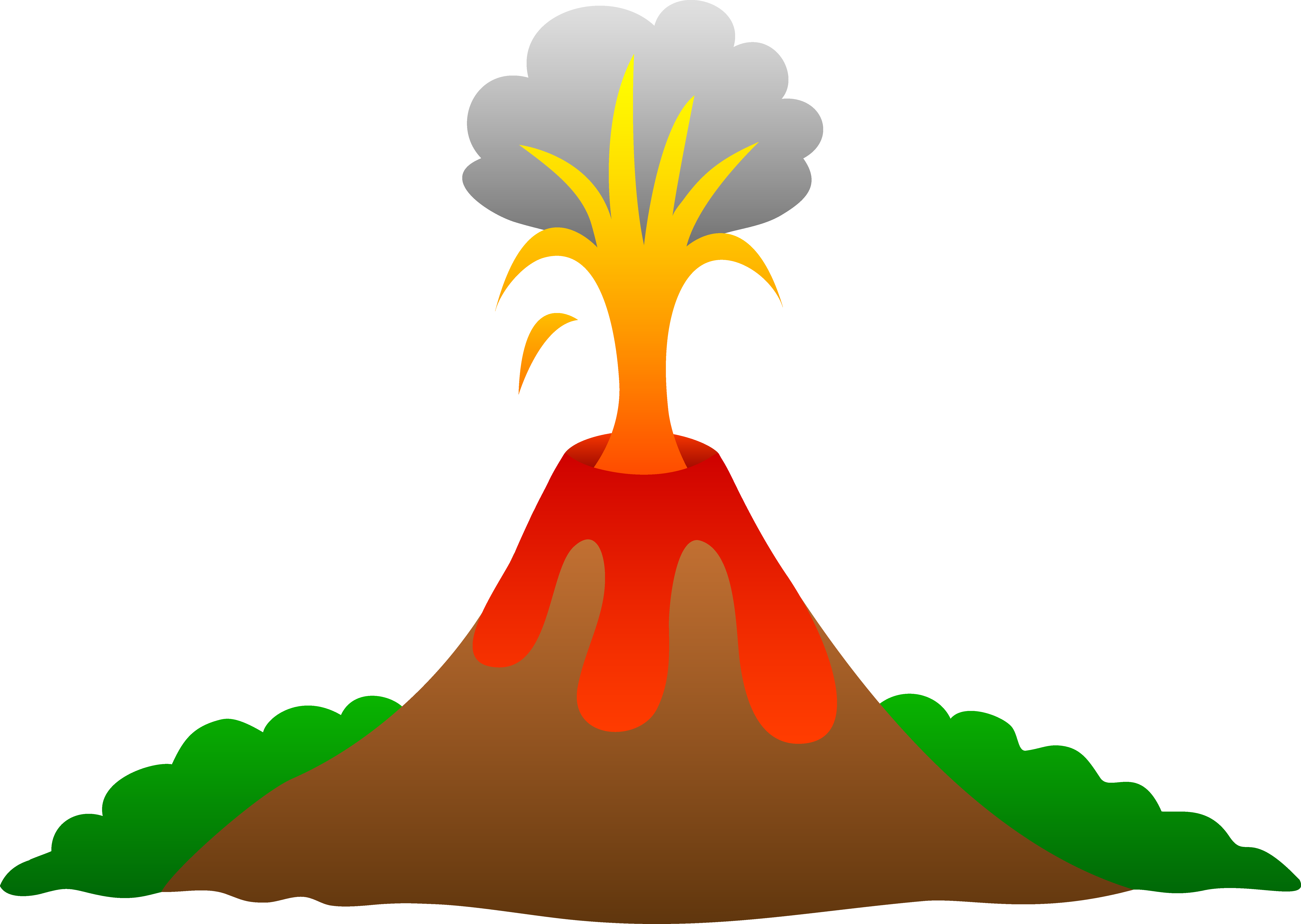 Erupting with lava free. Volcano clipart clip download