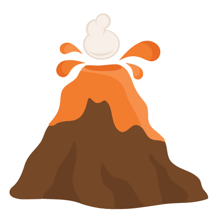 Volcano drawing png. Svg cutting files for