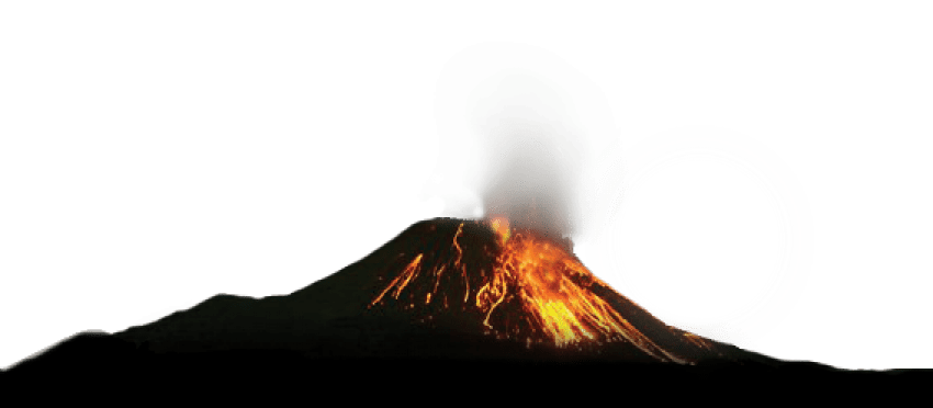 lava vector volcanic eruption