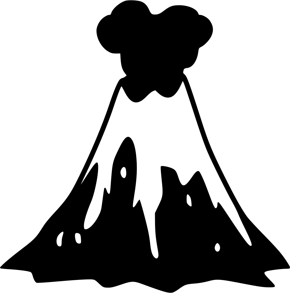 volcano silhouette png