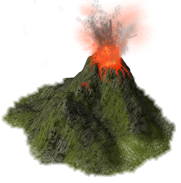 Transparent volcano active. File png free icons