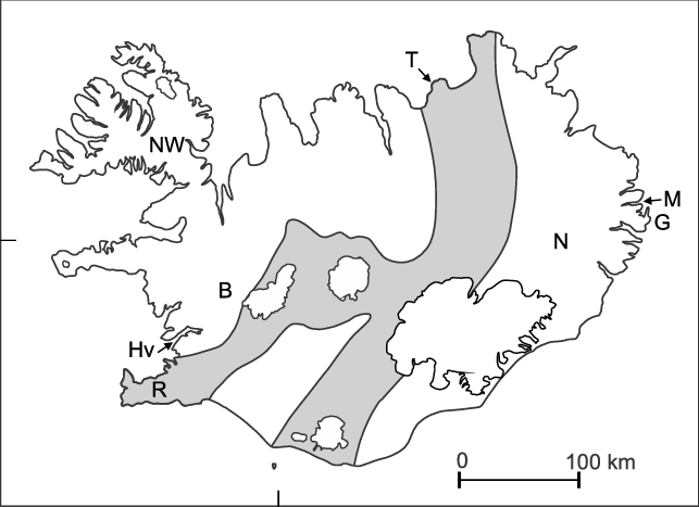 Volcanoes drawing active volcano. Map of iceland showing