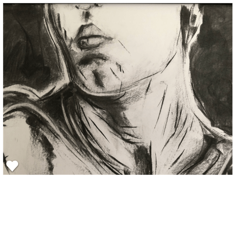 Female life study in. Top drawing charcoal clip transparent stock