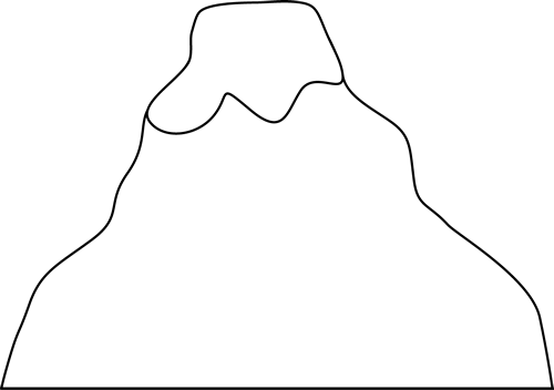 Volcanoes Drawing Smiley Face Transparent Clipart Free
