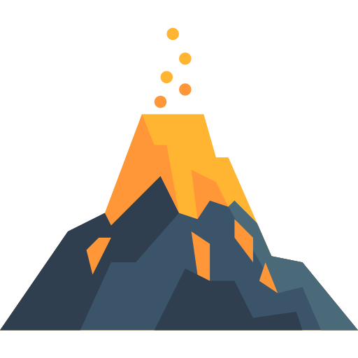 Volcanoes drawing mountain. Volcano picture transparent