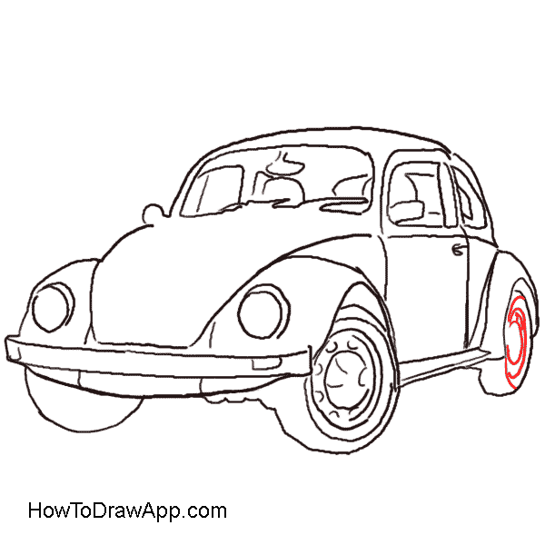 How to draw a. Volkswagon drawing svg transparent stock