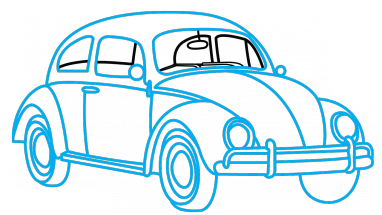Volkswagen drawing. How to draw vw