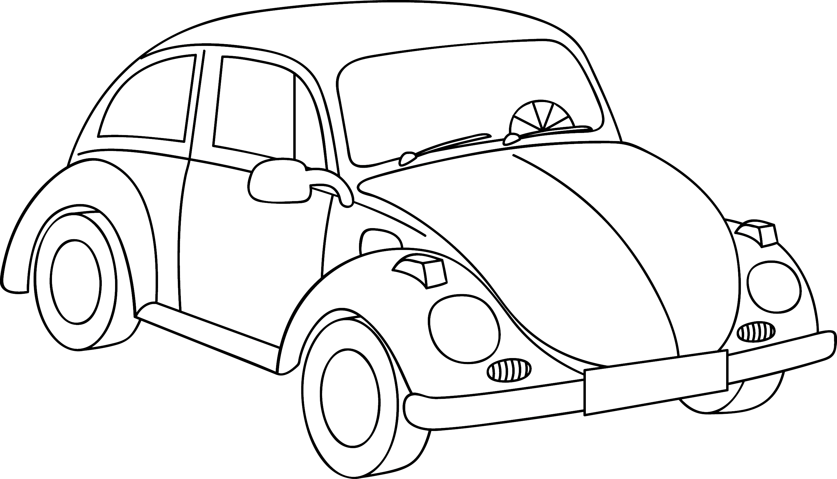 Volkswagon drawing template