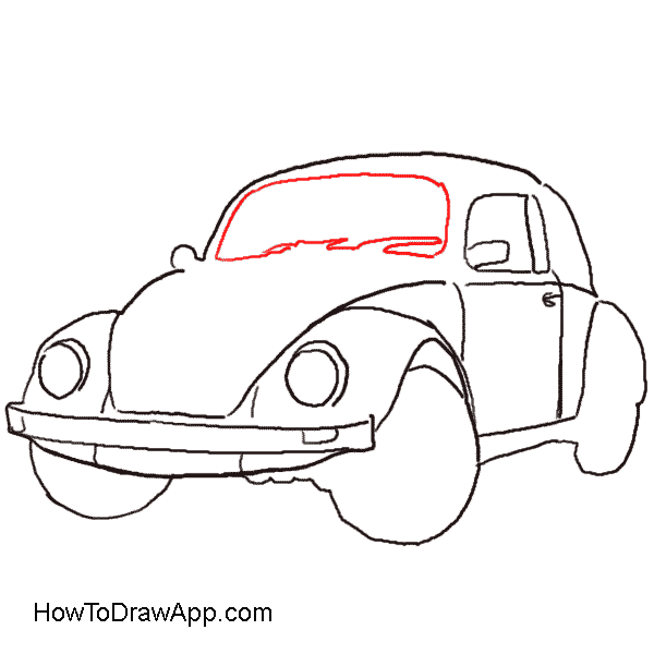 How to draw a. Volkswagon drawing clip free download
