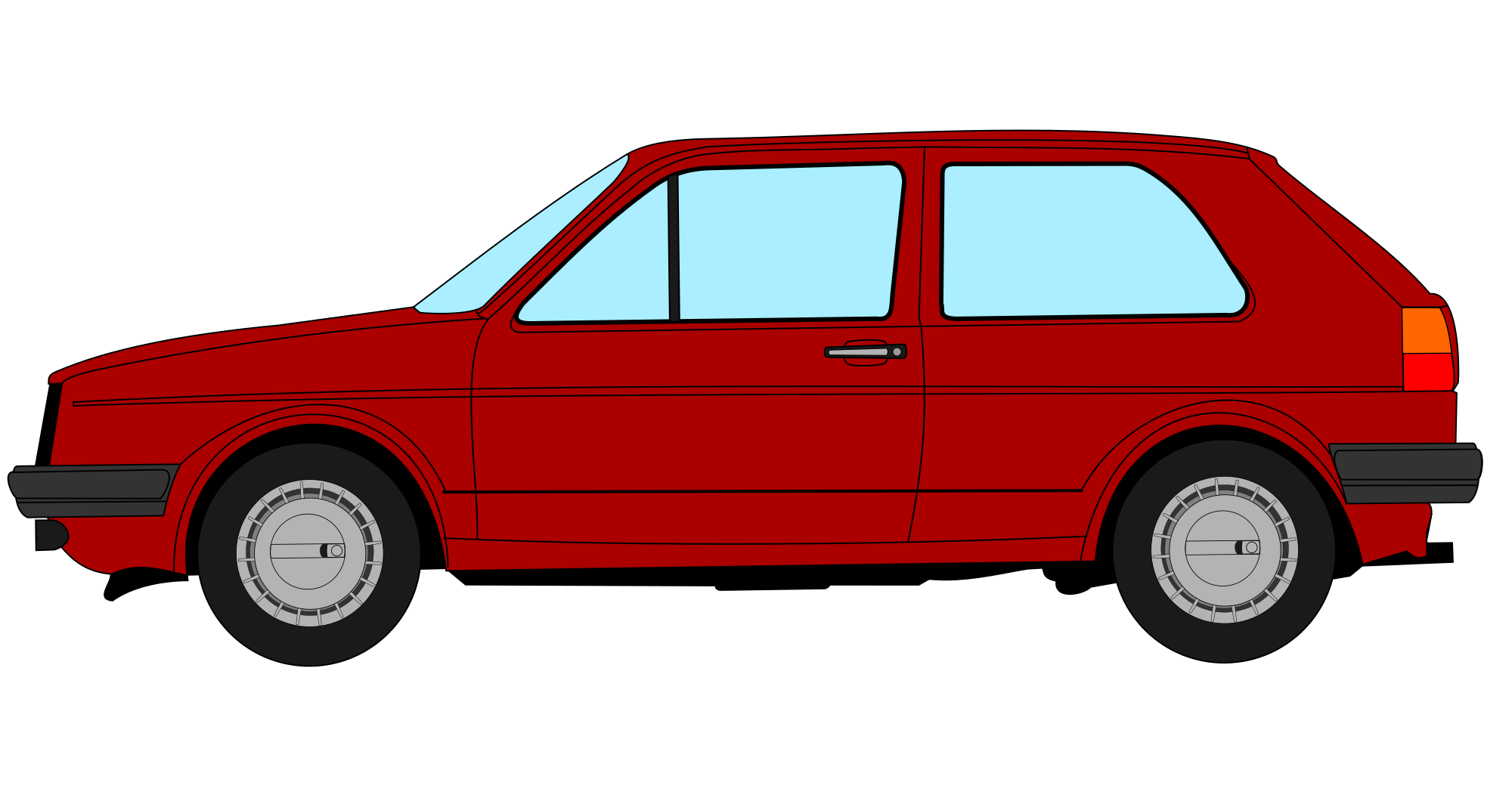 Volkswagon drawing profile. File vw golf svg