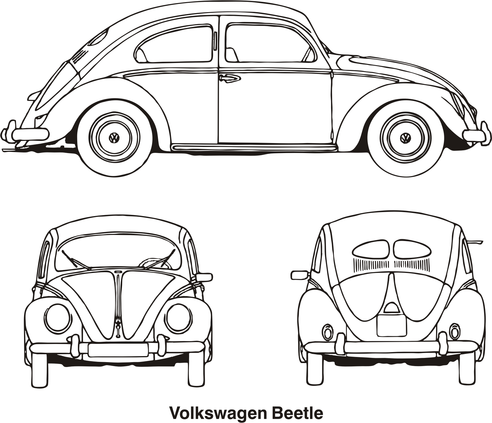 Volkswagen beetle year icons. Volkswagon drawing art clipart royalty free library