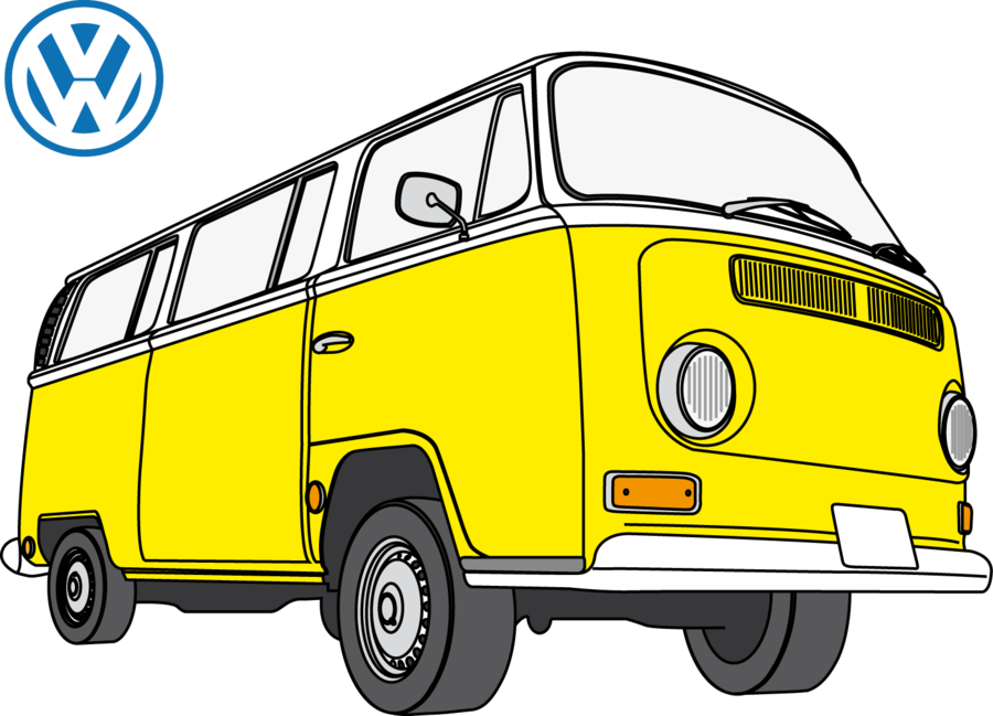 Volkswagen drawing bus vw. Only air cooled photo
