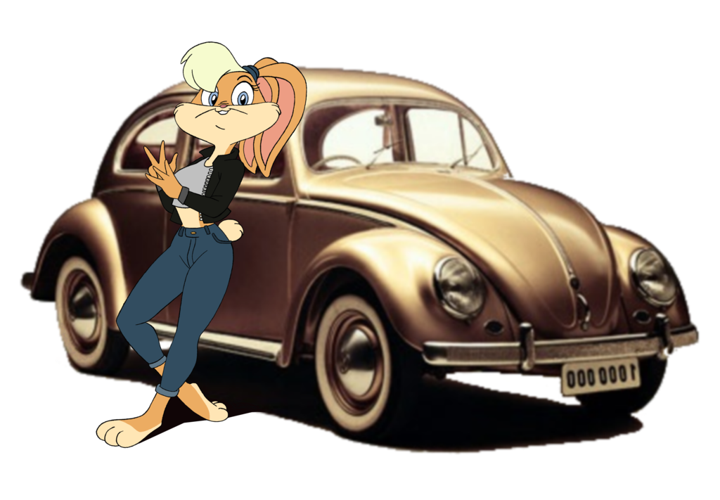 Volkswagen drawing cartoon. Rabbit request by jawproductions