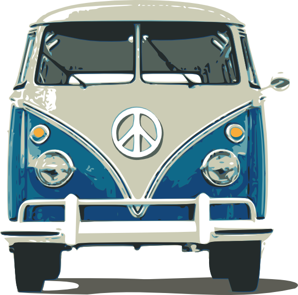 Volkswagen vector van hippie. Vw bus clip art