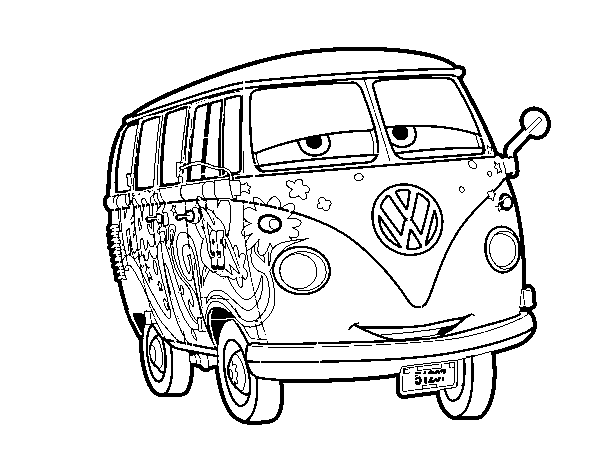Volkswagen drawing coloring page. Fillmore pages google search