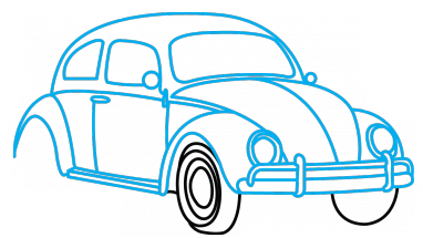 How to draw vw. Volkswagen drawing easy transparent