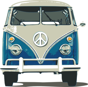 Volkswagen drawing hippie. Vw bus clip art