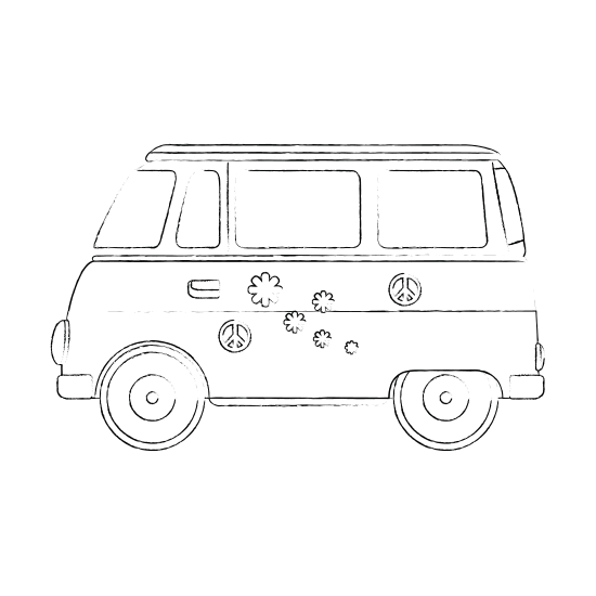 Collection of free bus. Volkswagon drawing hippie svg royalty free library
