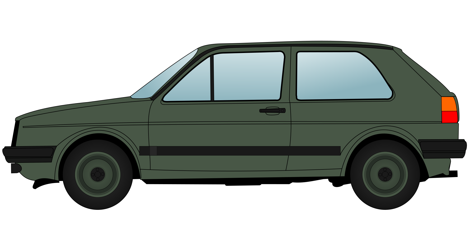 File vw ii bw. Volkswagen drawing mk1 golf transparent library