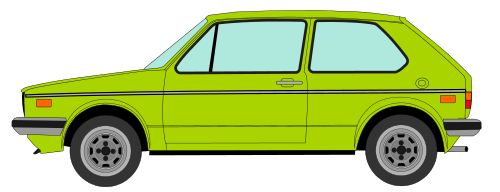 Volkswagen drawing mk2. File vw golf profile