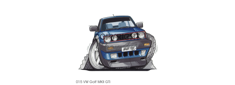 Volkswagen drawing mk2. Deanart caricature car cartoon
