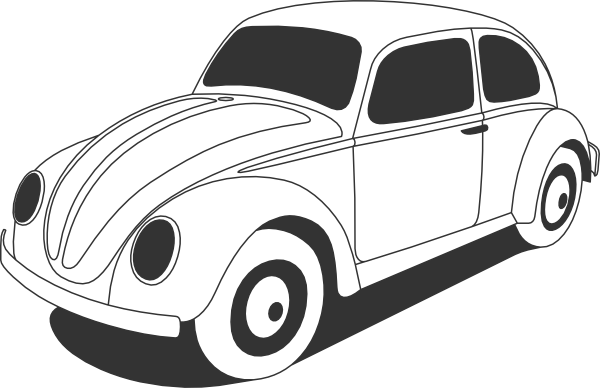 Volkswagen drawing outline. Vw beetle clip art