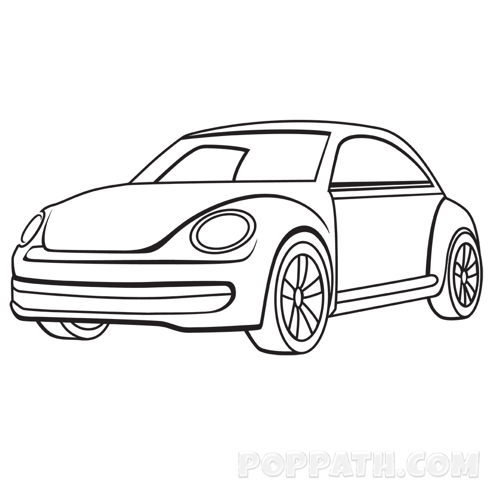 Volkswagen drawing simple. Collection of car