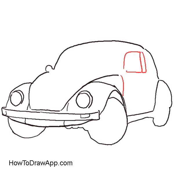 Volkswagen drawing sketch. How to draw a