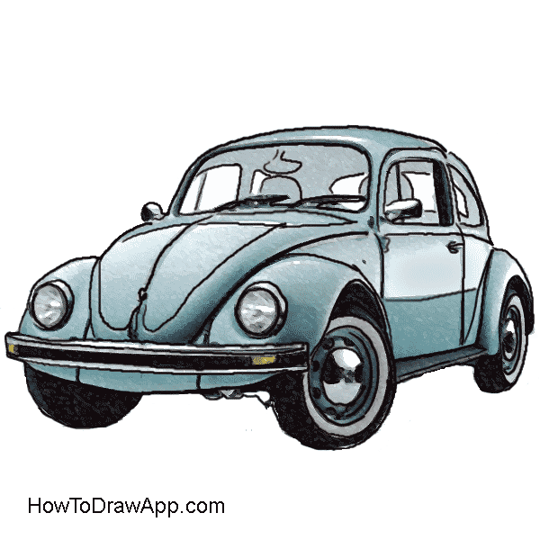 How to draw a. Volkswagen drawing sketch image freeuse download
