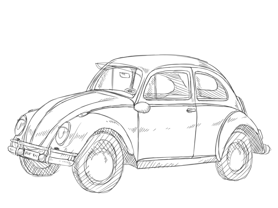 Volkswagon Drawing Sketch Transparent Clipart Free Download