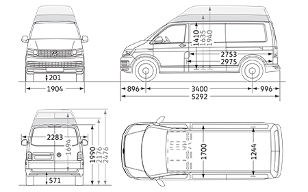 Long wheelbase camper t. Volkswagon drawing t5 vw graphic free download