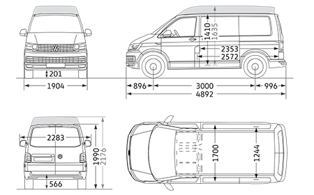 Short wheelbase camper t. Volkswagon drawing t5 vw image royalty free library