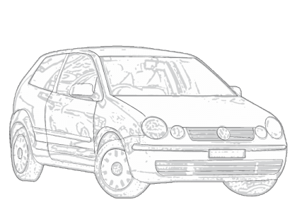 Volkswagen drawing vw polo. Aerpro