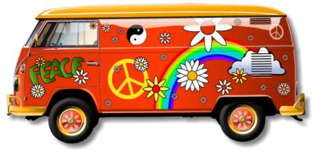 Volkswagen vector van hippie. Peace page galletas pinterest