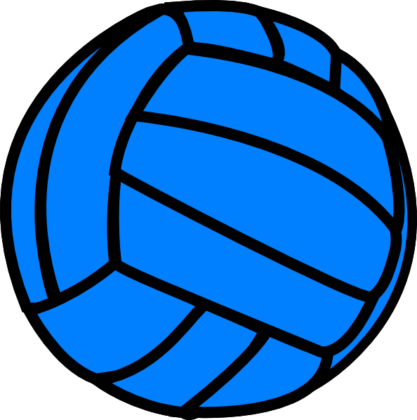 Volleyball clip ball. Banner royalty free
