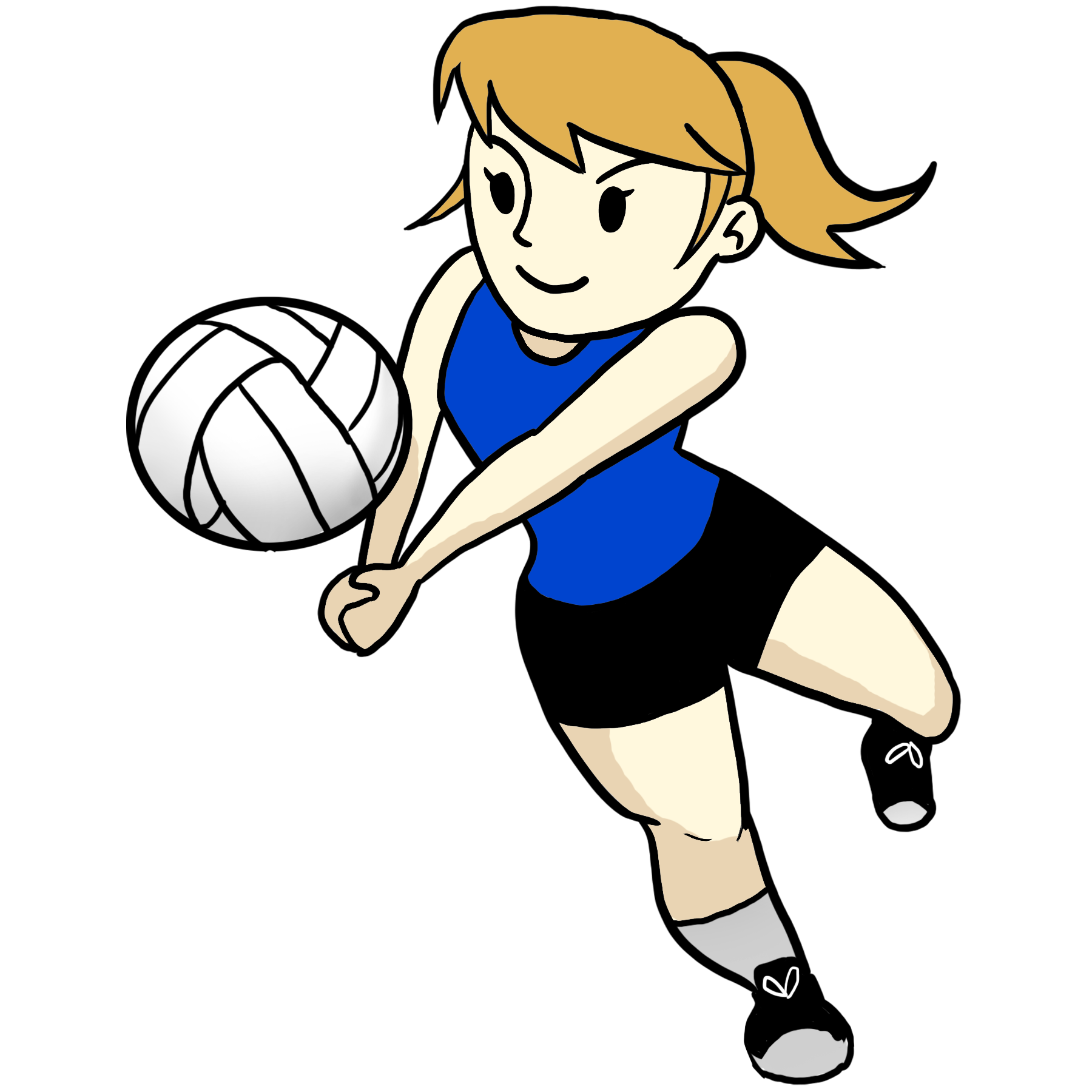 Free cartoon download clip. Volleyball clipart hand clip black and white download