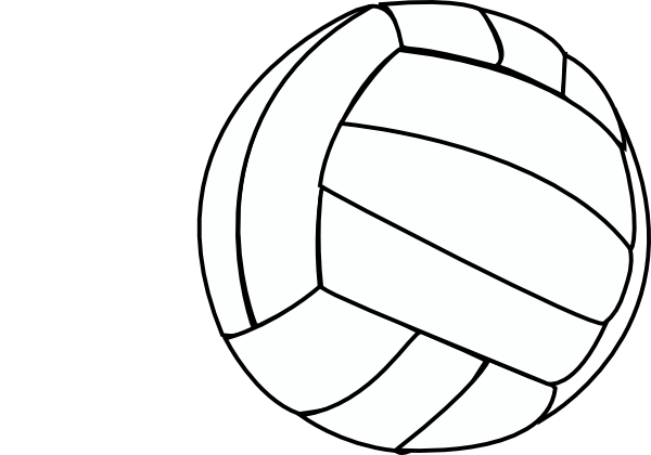 Volleyball clip outline. Thin art at clker