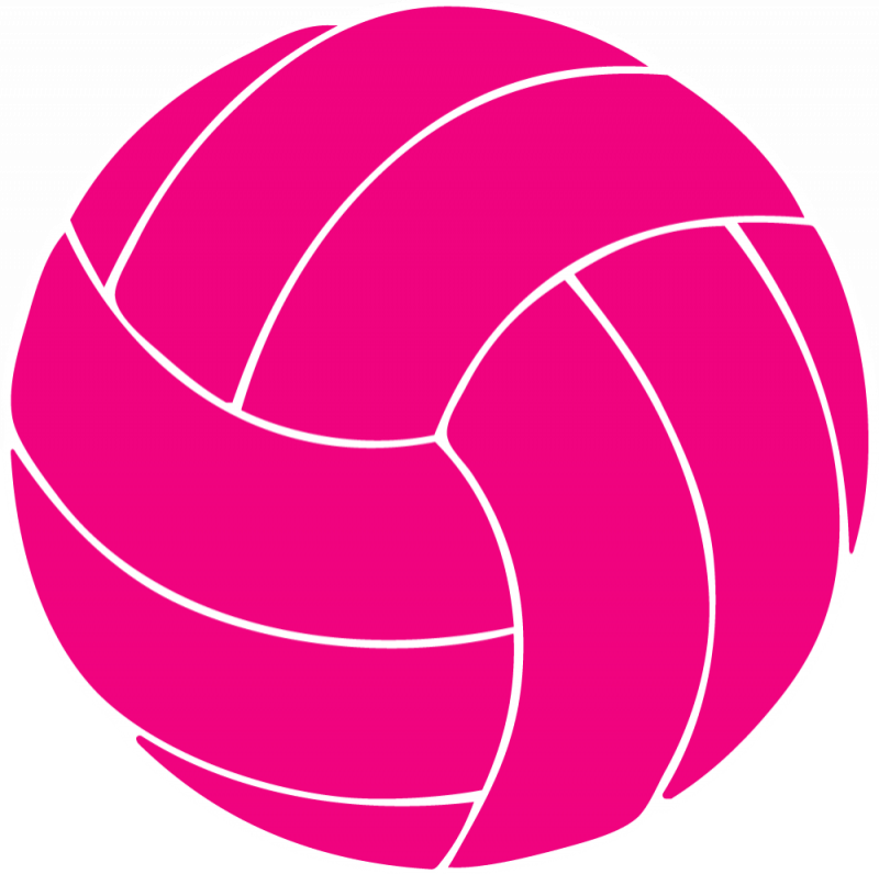 Pink . Heart clipart volleyball clipart black and white