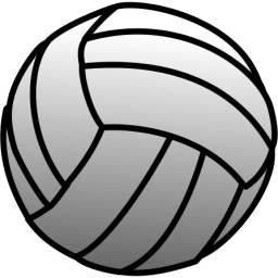 Volleyball clip plain. White icon png clipart