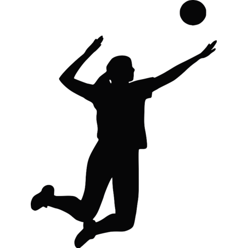 Volleyball clip silhouette. Inside art transprent png