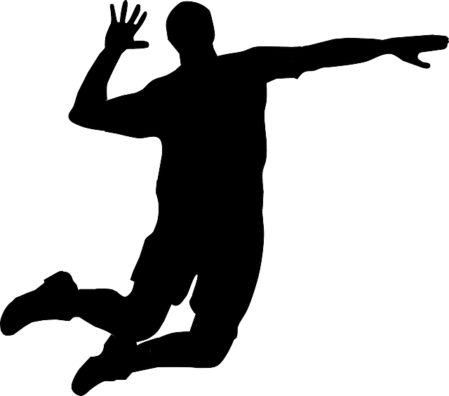 Player hitting silhouette panda. Volleyball clipart hand clip art black and white library