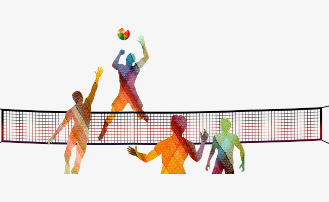 Drawn silhouette play png. Volleyball clipart hand banner freeuse library