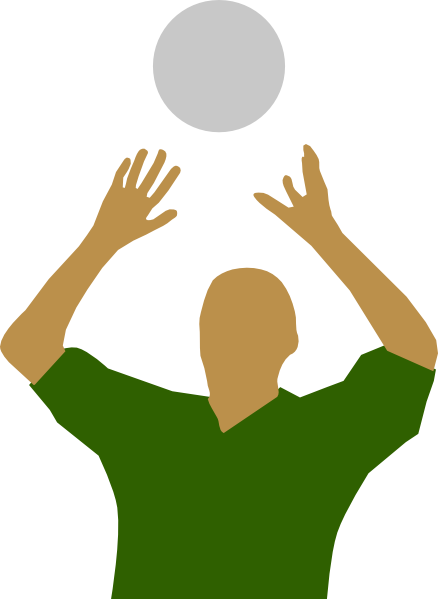 Player silhouette clip art. Volleyball clipart hand png royalty free stock