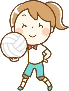 Girl remix small image. Volleyball clipart hand image transparent stock