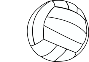 Thin clip art at. Volleyball clipart hand clip free stock