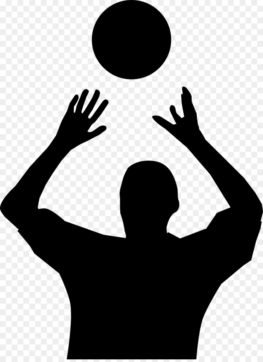 Silhouette clip art at. Volleyball clipart hand picture library library