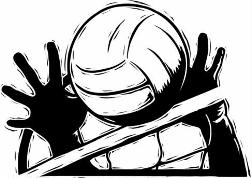Volleyball clipart move. Silhouette at getdrawings com