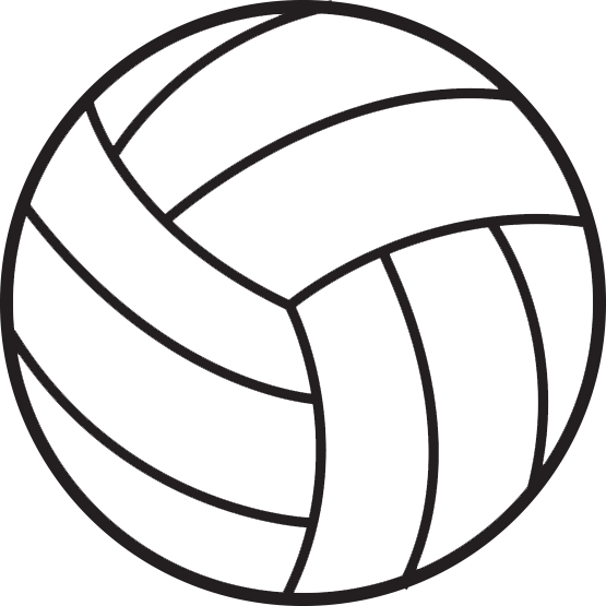 volleyball outline png