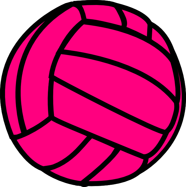 Volleyball clipart volleyball ball. Pink clip art at