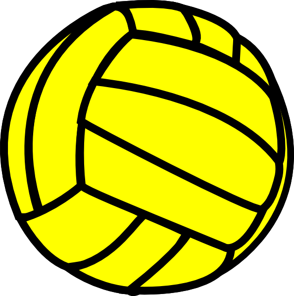 Volleyball clip blank. Yellow art at clker
